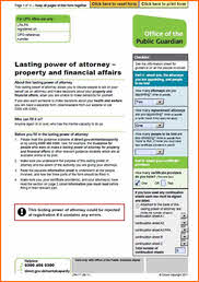 Lasting Power of Attorney - who decides when you can't?